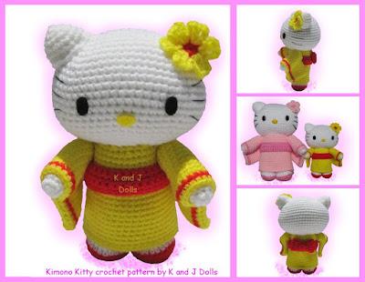 Hello Kitty Kimono Amigurumi Patron : CROCHETED HELLO KITTY PATTERN - Crochet and Knitting Patterns