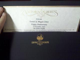 Victoria & Alberts Disney Grand Floridian Menu