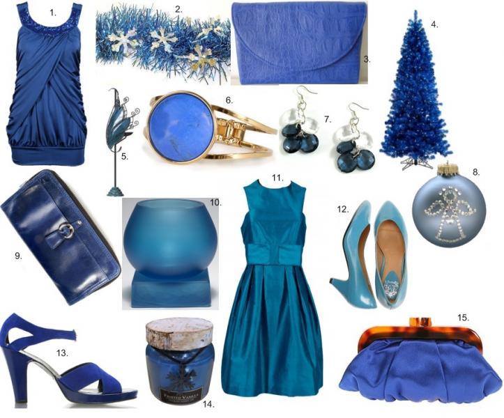 blue chrismast decoration