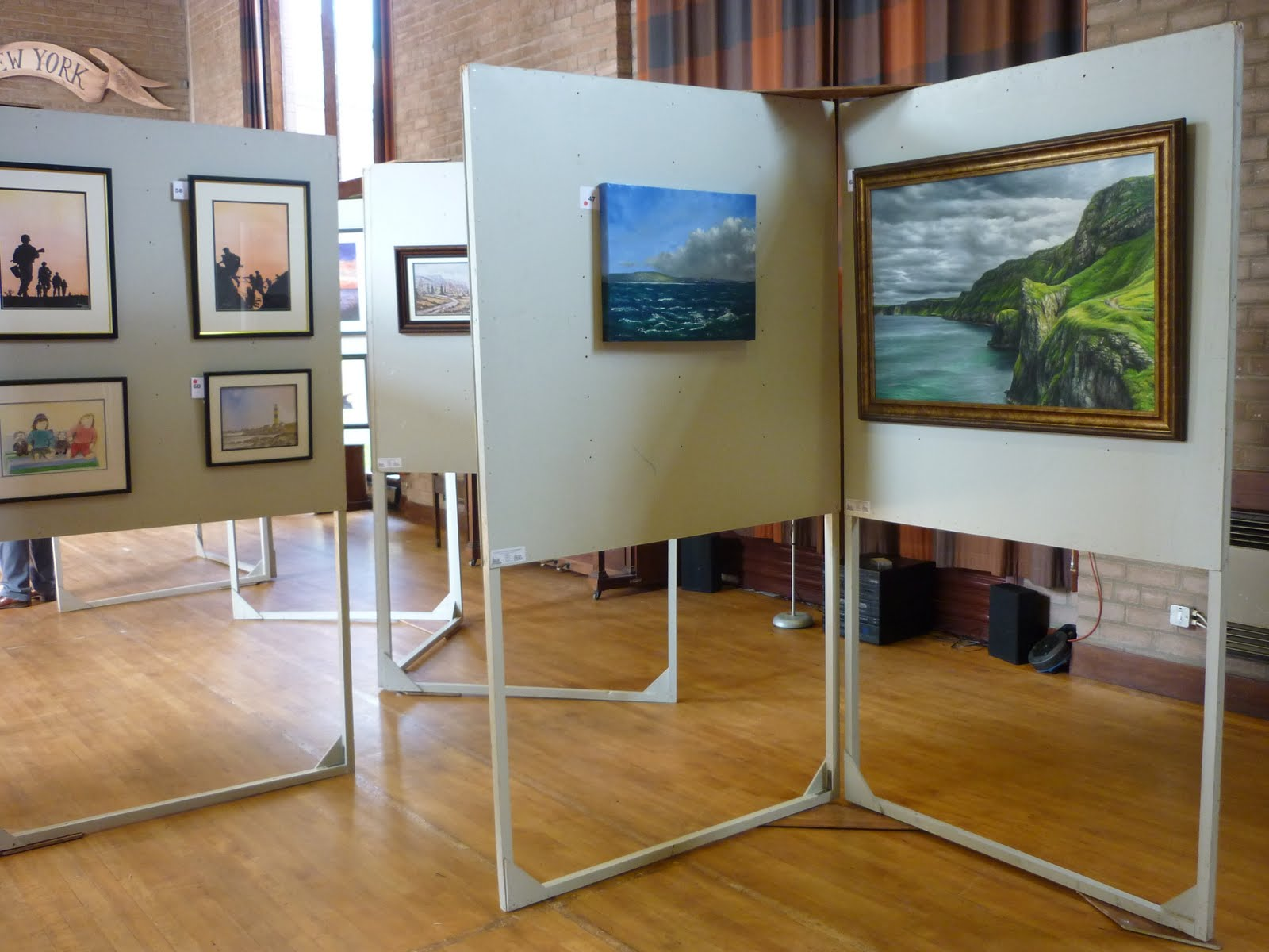Portable Art Exhibition Stands : The rev and a dog art exhibition