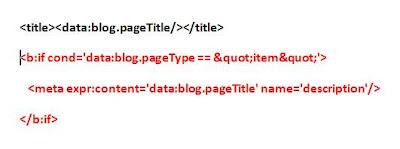Editing automatically the meta description tag for a Blogger blog