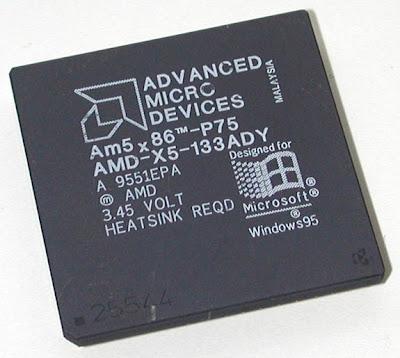 AMD 486 DX5 133MHz (P75) processor
