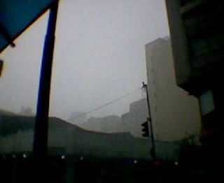 Chuva forte no centro da cidade