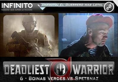 guerreros letales boinas verdes vs spetsnaz