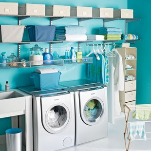 Home Decoration: Lively Laundry Rooms @