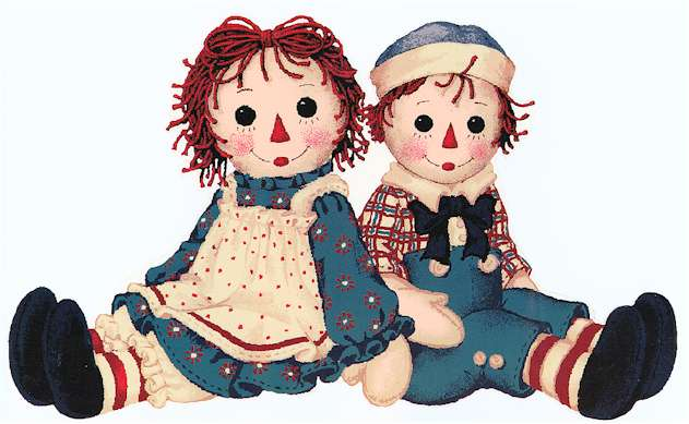 Raggedy ann and andy ornaments - TheFind