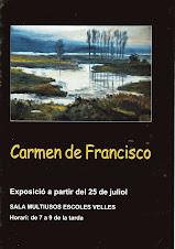 Exposició de Carmen de Francisco a la Sala multiusos de les Escoles Velles de Sant Jaume d'Enveja
