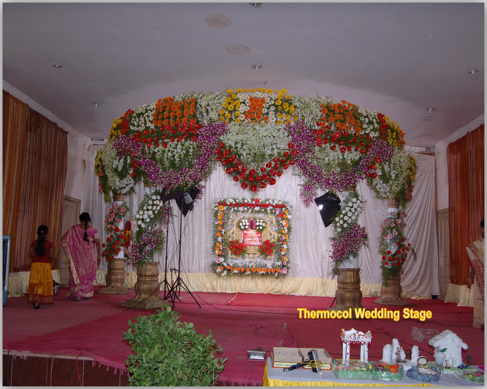 Swapnasridhar Wedding Stage With Thermocol Sheet
