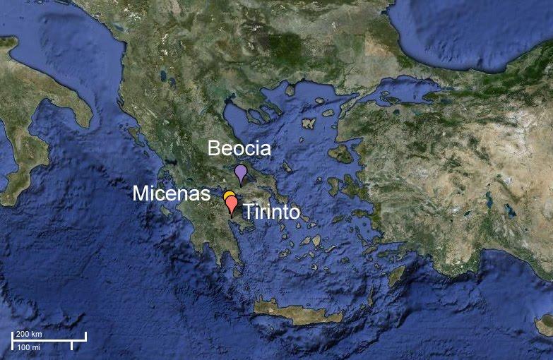 Notas de referencia para Micenas Centros-micenicos
