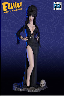 front of Elvira winking variant action figure from Amok Time