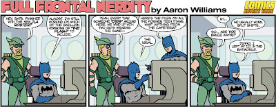 Batman and Green Arrow in Full Frontal Nerdity strip
