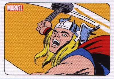 front of 70 Years of Marvel Comics Trading Cards P2 featuring Thor