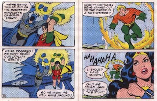 Super Heroes in The Secret of the Sinsiter Lighthouse pages 8 and 9