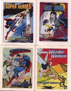 Post Super Heroes mini comics featuring Super Friends, Superman, Batman, Wonder Woman, Aquaman, Robin