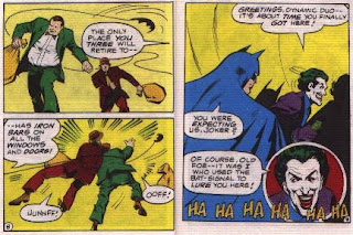 Batman in The Joker's Last Laugh mini comic pages 8 and 9