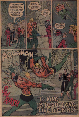 Aquaman in The King is Dead; Long Live the King from Adventure Comics #436