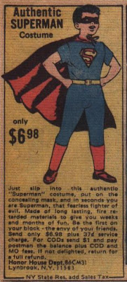 Superman costume ad from Adventure Comics #436