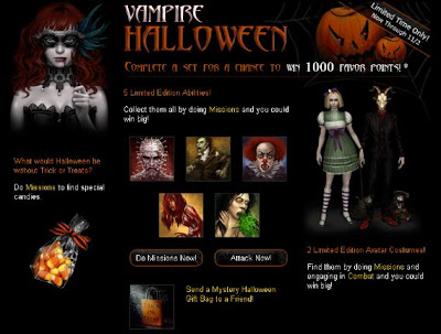 Vampire Wars online game from Facebook