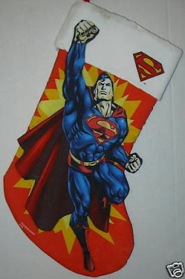 Superman Christmas stocking #1