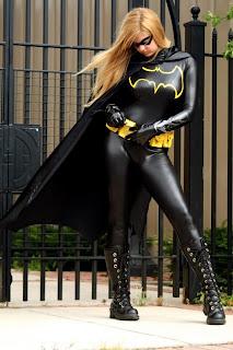 Blonde Batgirl standing