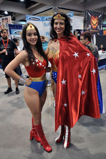 Wonder Girl and Wonder Woman at Comic Con 2010
