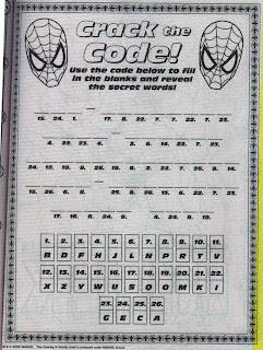 Crack the Code from Marvel Heroes Jumbo Coloring & Activity Book
