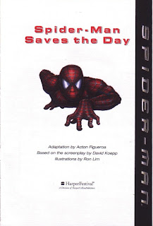 Title page of Spider-Man Saves the Day