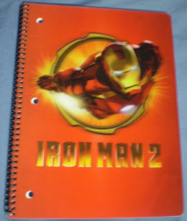 Front cover of Iron Man 2 flying notebook