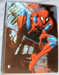 Front cover of Spider-Man Spider Sense notebook