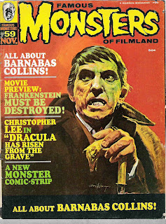 Cover of Famous Monsters of Filmland #59 by Basil Gogos