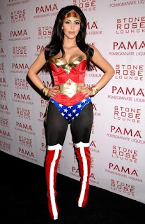 Kim Kardashian as Wonder Woman