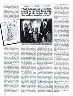 Elvira article page 7 from Femme Fatales vol 7 #7