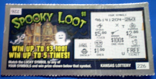 Spooky Loot Kansas Lottery ticket