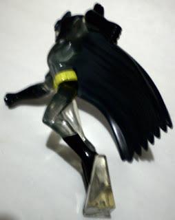 Left view of mystery Batman figure