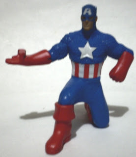 Front of of Captain America from McDonald's Marvel Heroes 2010 set