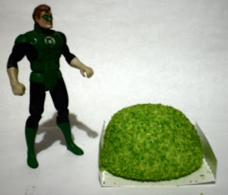 Green Lantern action figure with opened Hostess Glo Ball