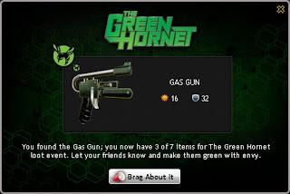 The Green Hornet Gas Gun at Mafia Wars