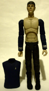 Zachary Quinto as shirtless Spock action figure