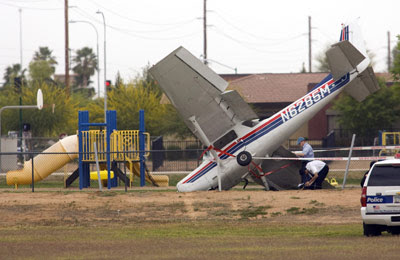 Plane lands on School Playground