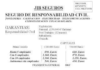 Seguro responsabilidad civil electricidad for Seguro responsabilidad civil autonomos obligatorio
