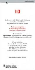"""DANIEL BUSQUESTS: PRESENTACIÓ """"LA TRAMA PERFECTA"""""""