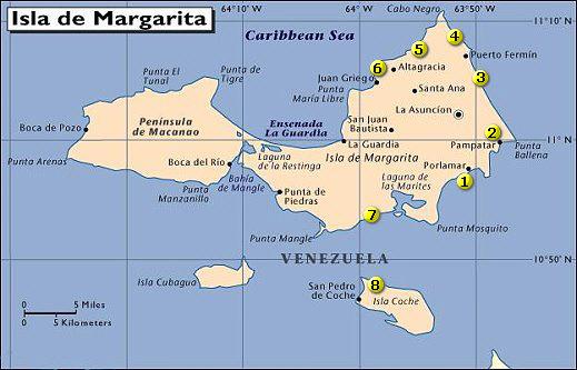 Mapa - Isla de Margarita