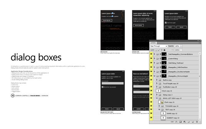 Windows Phone 7 GUI PSD Wireframe Stencil - Best UI PSD