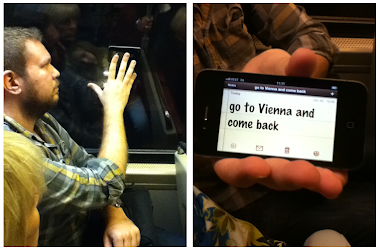 AAC in Action:  iPhone Messaging on the DC Metro