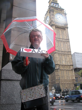 Michael Reed promoting AAC in London