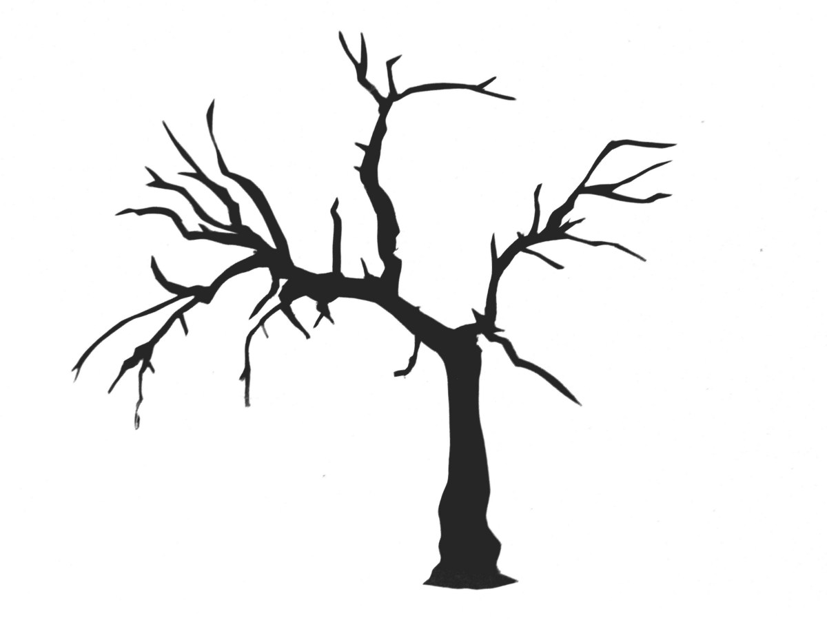 Bewitching image regarding printable tree stencils