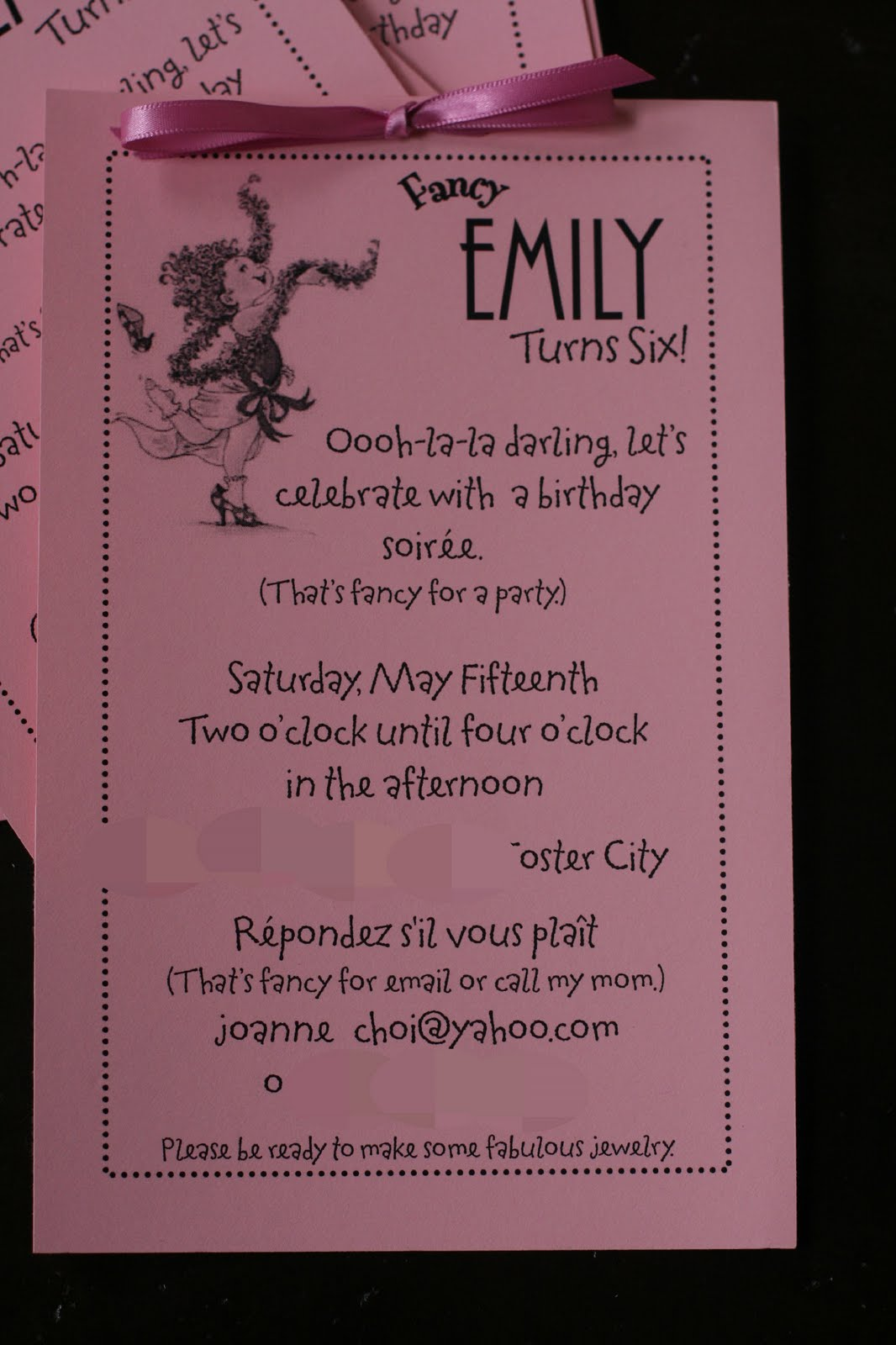 Fancy Nancy 6th Birthday Party: Menu and Party Planning Ideas ...