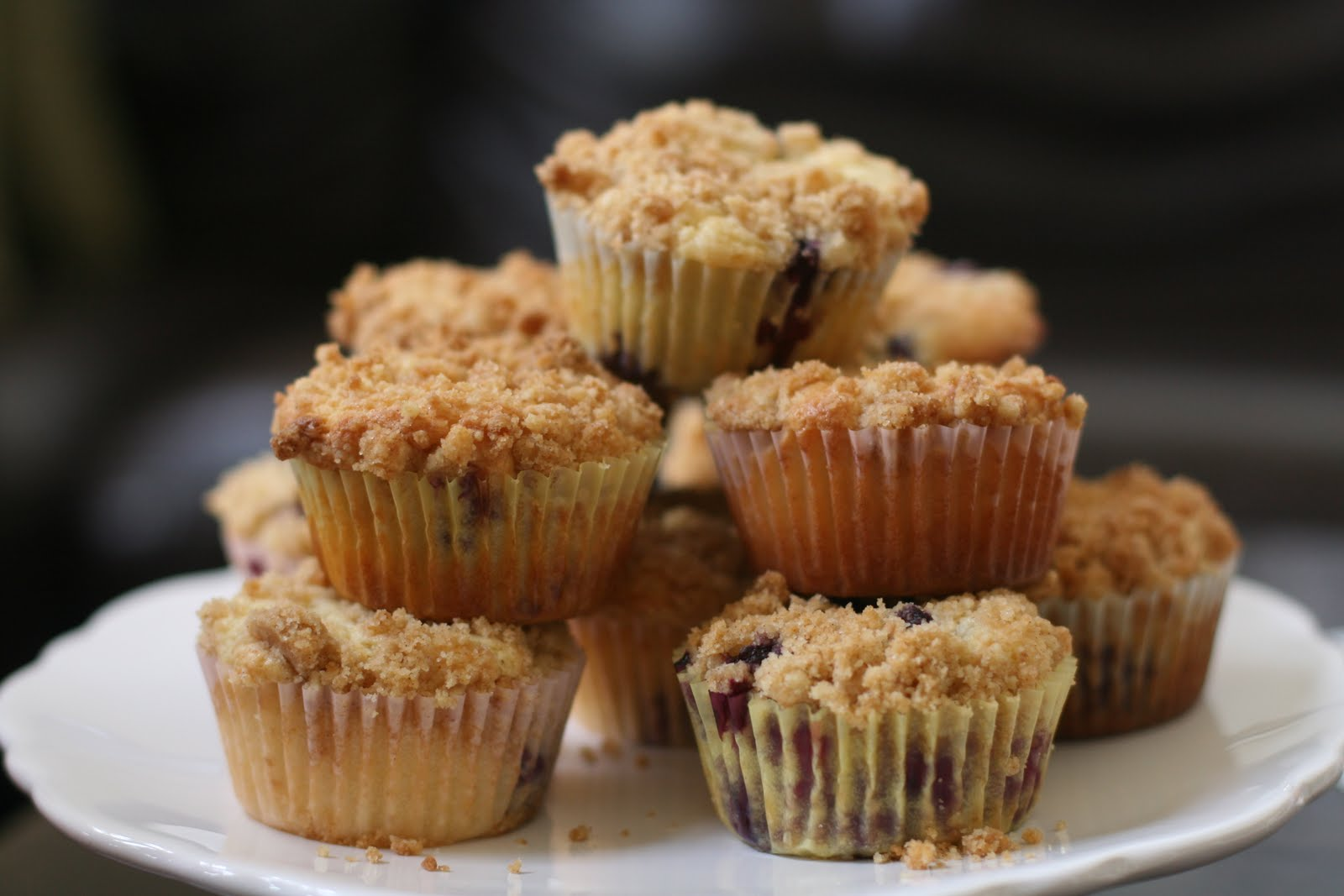 ... of Menus: Sour Cream Blueberry Crumb Cake Muffins: Luxury for a mom