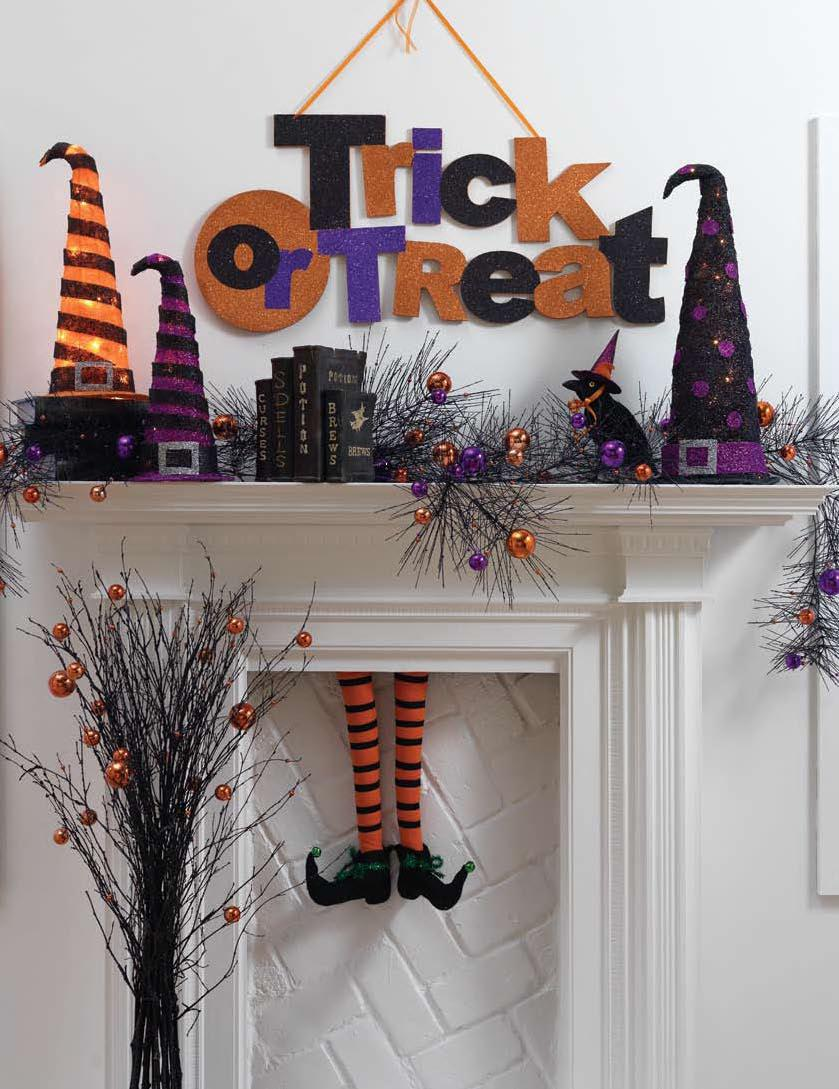 Twenty Halloween Mantel Decorating Ideas! - Fox Hollow ...