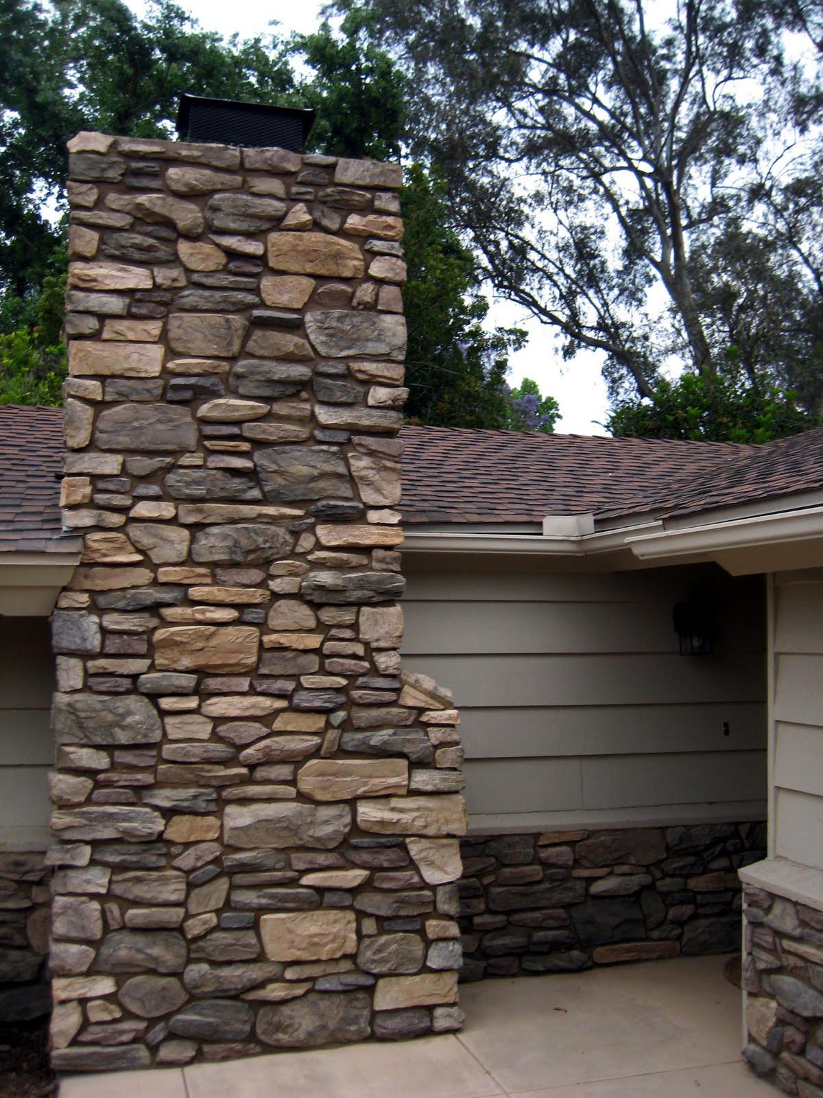 Mizisin contracting services stone veneer chimney for Stone chimneys